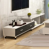 Tempered glass TV cabinet