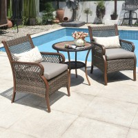 Outdoor furniture garden tables and chairs combination in rattan