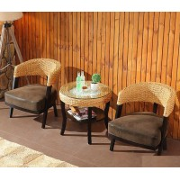 Rattan chair and table set style 3