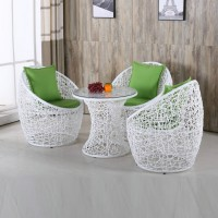 Nest style Rattan Chairs and Tea Table Set Style 1