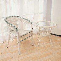 Rattan chair and table combination