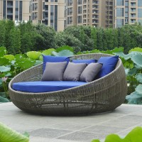 Modern outdoor round rattan sofa bed leisure couch