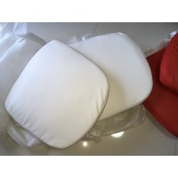 Replacement Cushions for Ball Chair in White color and PU leather
