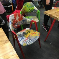 leisure steel chair with cushions