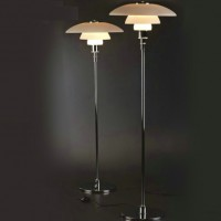 PH 4/3 3/2 Opal Glass Floor Lamp of Small size