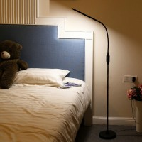 Modern remote control led floor landing lamp