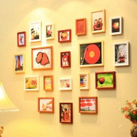 Wall photo collection of heart shape
