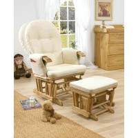 European style lounge chair with ottoman
