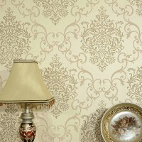 Sprinkle gold fabric wallpaper