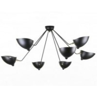 Serge Mouille Style Seven Arms Pendant Ceiling Lamp