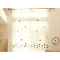 Embroidery window screening curtain