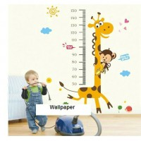 Height measurement for kids wall sticker