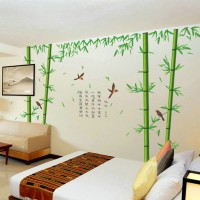 Bamboo and birds wall sticker