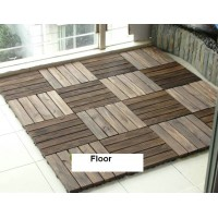 Outdoor carbon flooring