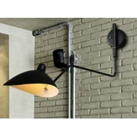 Serge Mouille Style Single-Arm Wall Lamp of 60cm
