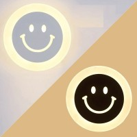 Smile face style LED wall lamp