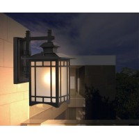 LED outdoor wall lamp waterproof and voice controlled
