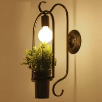 Potted plant style wall lamp