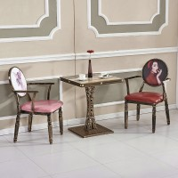 Dining Chair Retro Casual Simple Cafe Chair