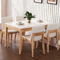 Willow Wood Dining Table and Chairs Combination