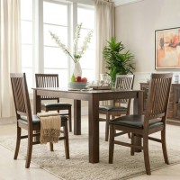 Solid wood dining table and chairs combination style 3