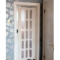 PVC foldable interior wooden door