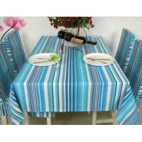 Blue strips dining table cloth