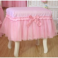 Pink stool cover