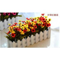 Artificial flowers and railings decoration