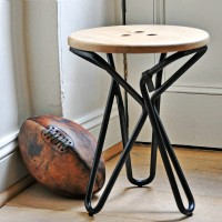 Designer solid wood bar LOFT retro creative bar stool