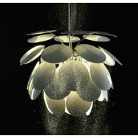Medium size Artichoke Aluminium Pendant Lamp of Round Leaves