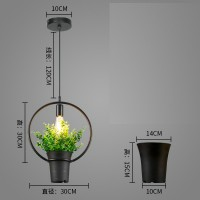 Plant lamp Iron Flower pot pendant lamp style 7