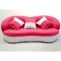 Cute fabric sofa in the lips shape, with 2 cushions together
