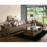 Rattan Sofa Set with Chaise