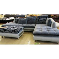 Modern fabric sofa set with chaise,color can be various