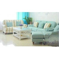 Mediterranean style fabric sofa with chaise
