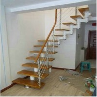 Steel and wood staircases