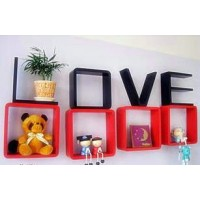Love wall shelf