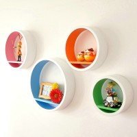 Colorful round shelf