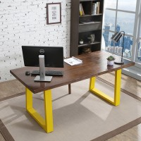 Simple modern loft style solid wood desk table