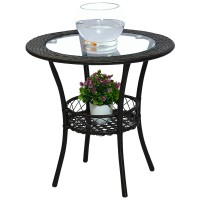 Simple modern balcony storage small round table coffee table