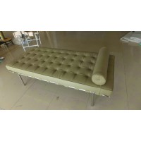 Barcelona style Daybed in Top Grain Leather