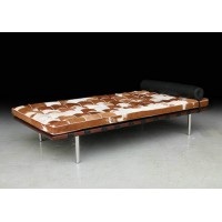 Pony Skin Leather Barcelona style Daybed