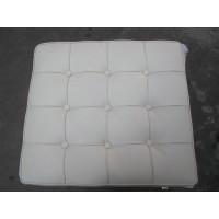 White Barcelona Ottoman Cushion in Italian Leather
