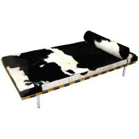 Cowhide Barcelona Daybed Cushions with no piping