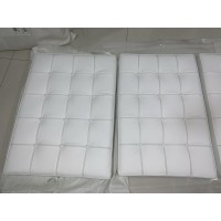 White Barcelona Chair Cushions in standard grade