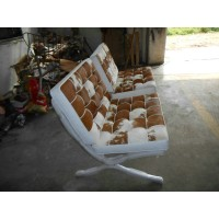 Barcelona Chair Replacement Cushions and Straps in Full Aniline Leather