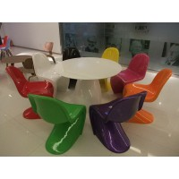 Panton chair of large size for adult in plastic