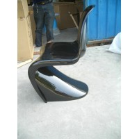 Panton chair in fiberglass NOT ABS of black color