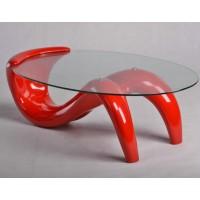 Creative glass Mermaid coffee table